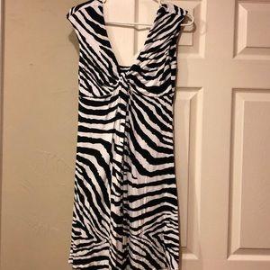 Zebra print casual dress